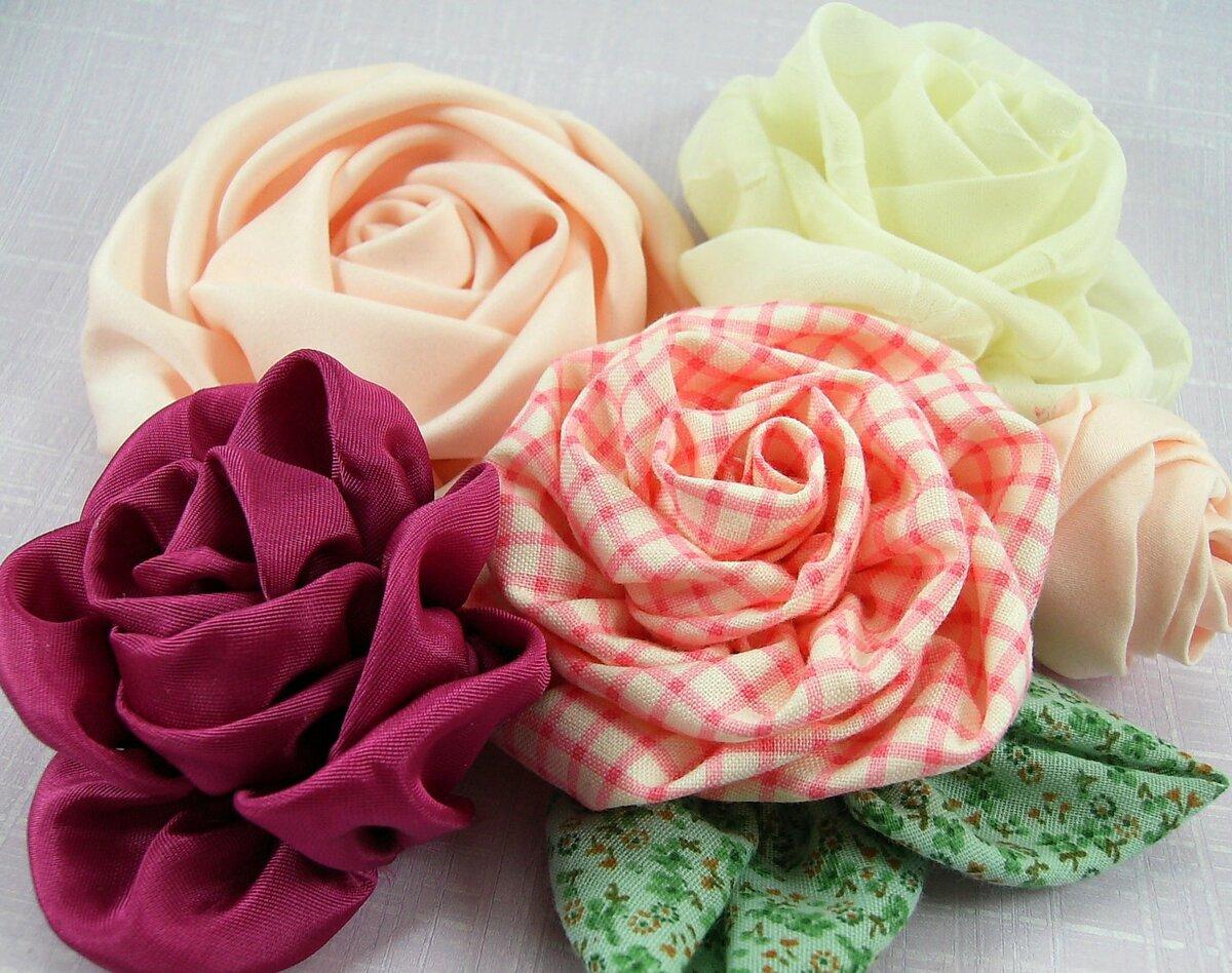 Цветы из ткани украшения картинки