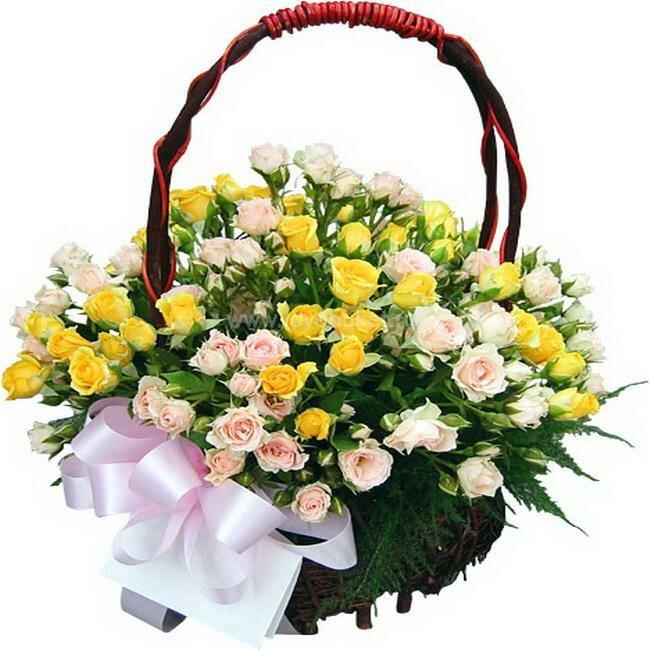 Цветов, цветы корзины
