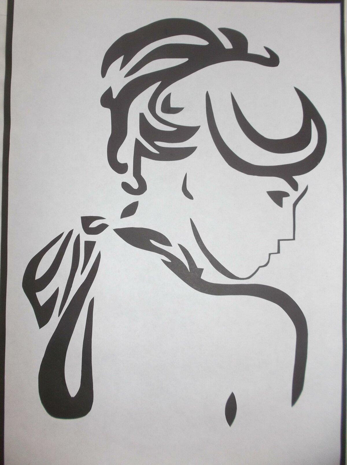 Вытынанки рисунок черно белый