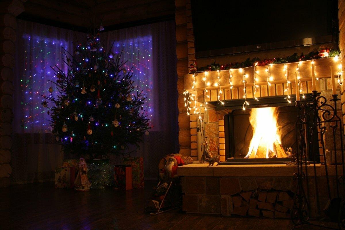 Картинки новогодней комнаты ночью уютная