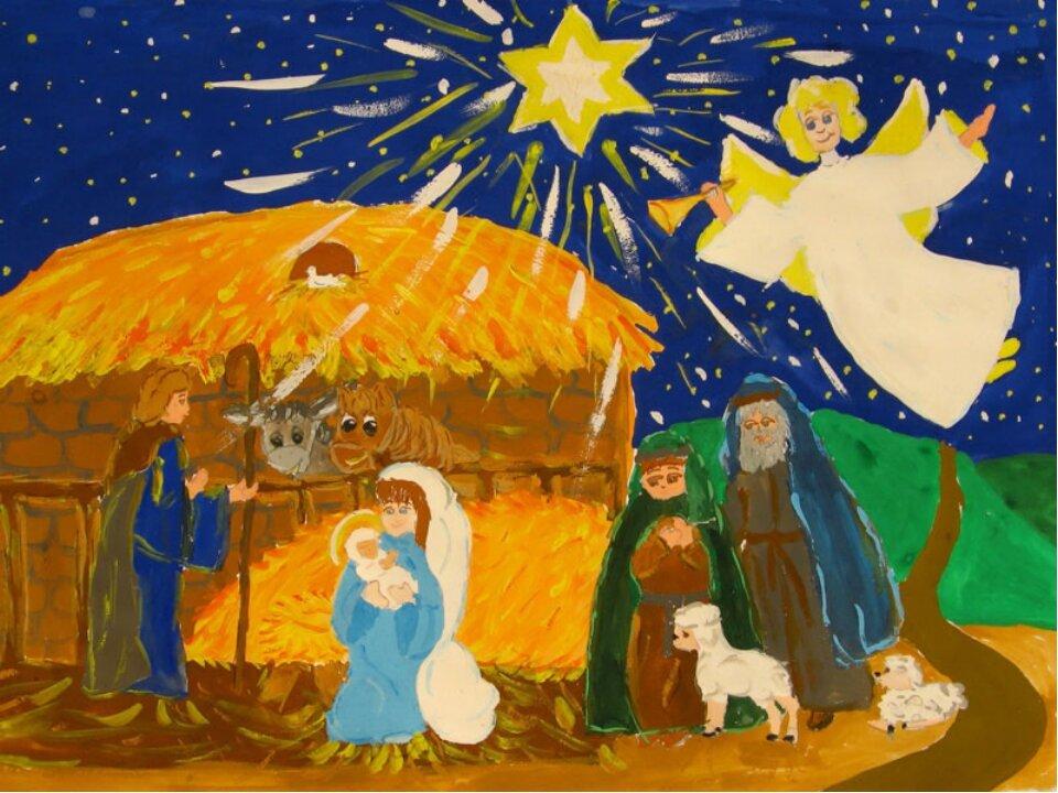 рисунки на тему свет рождественской звезды календарь