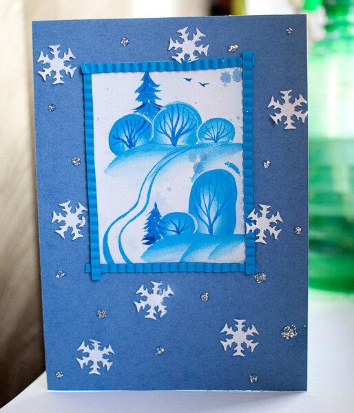 Рождественская открытка своими руками на конкурс в школу 2 класс