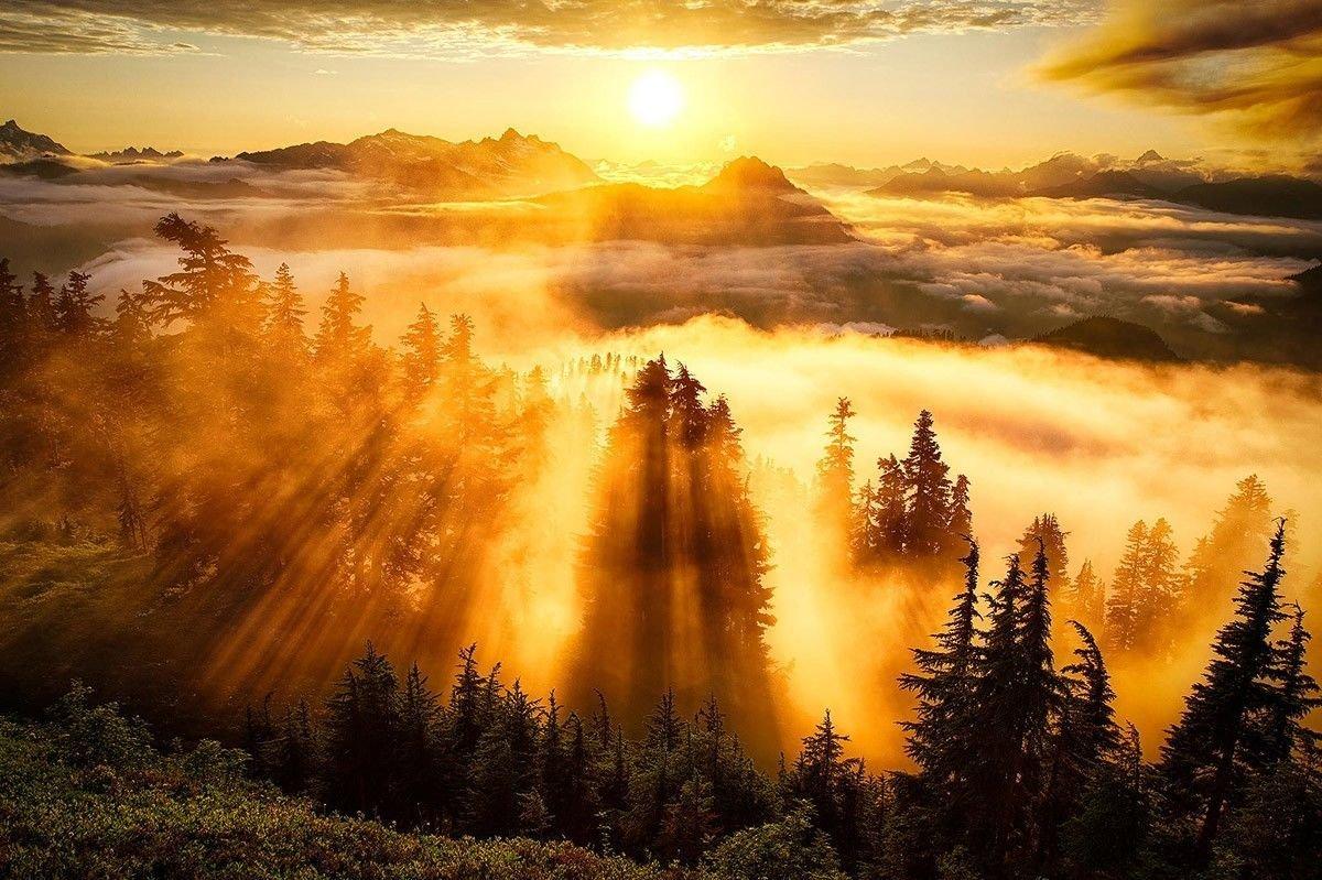 Поздравления отпуском, картинки красивые утренние природа