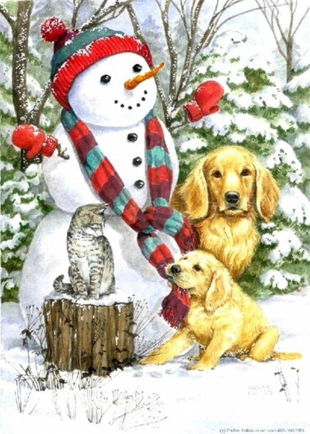 Родился малыш, открытки с собаками новый год