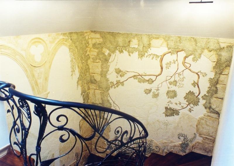 попытки декоративные рисунки на стенах фото представлены