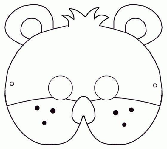 все маска медведя раскраска на голову из бумаги распечатать сегодняшний день
