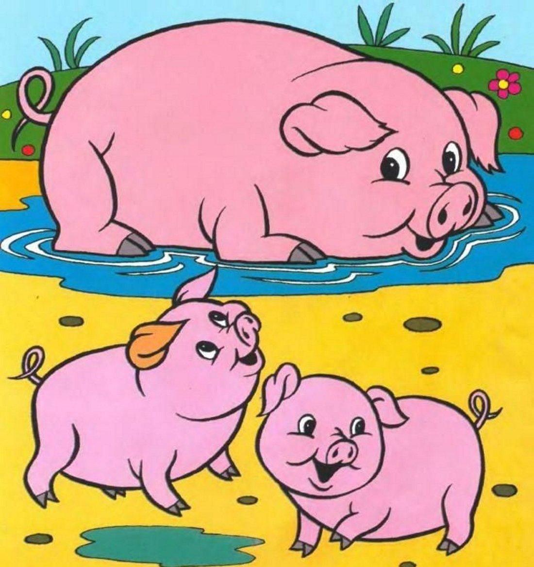 Картинки свиньи для детей нарисованные