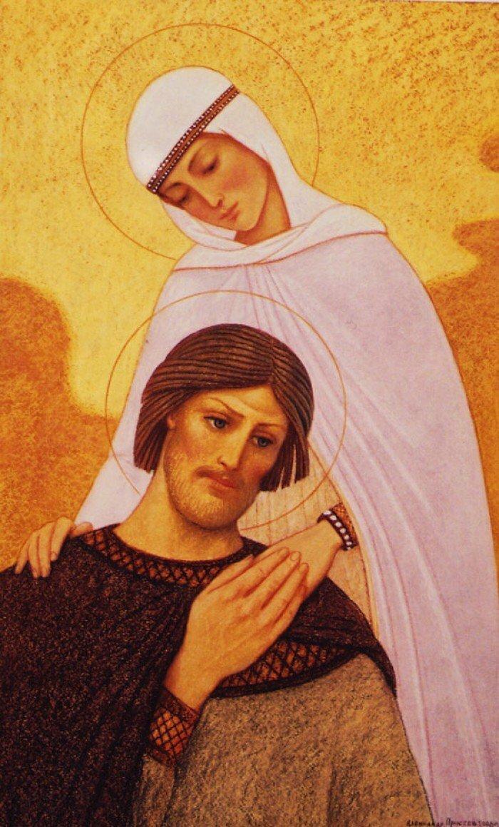 Православные открытки о любви, рыжими цветами открытки