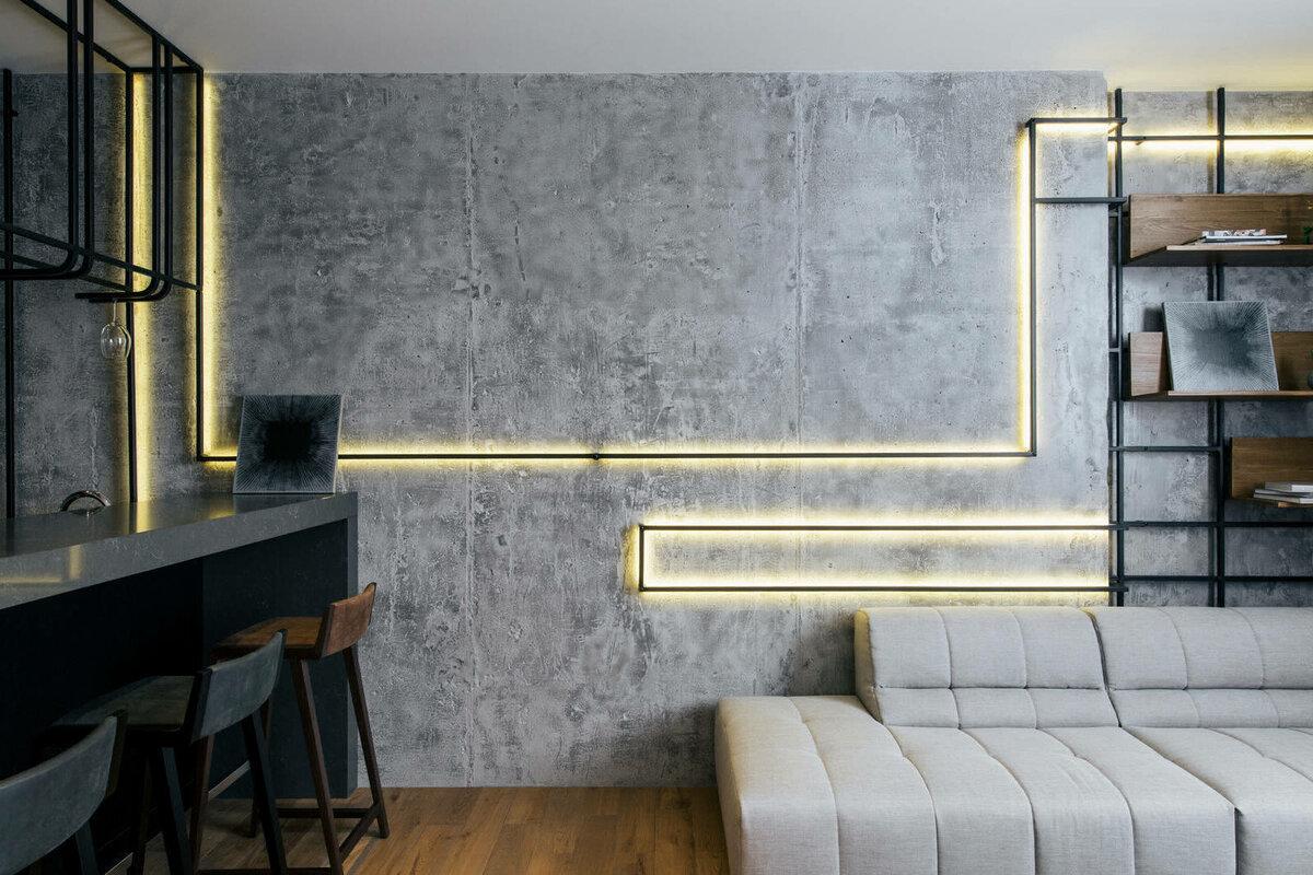 красим стены в стиле лофт