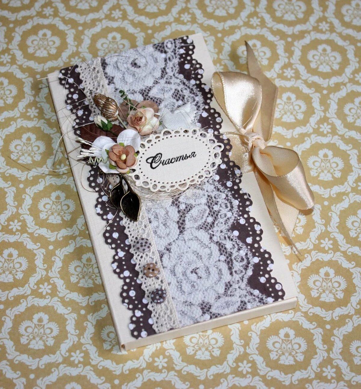скрапбукинг открытка шоколадница одна