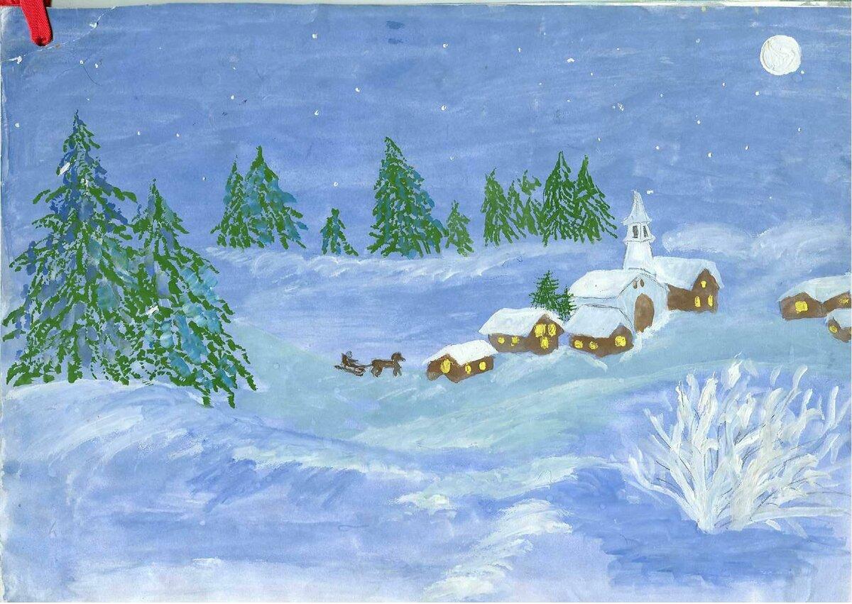 Картинки зима для детского сада природа
