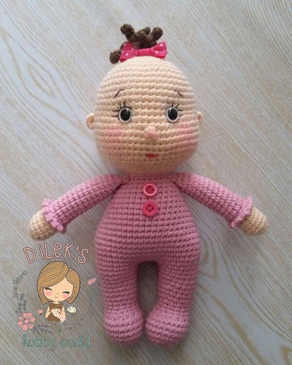 DIY Amigurumi Amigurumi Pıtırcık Baby 1 (Head) Amigurumi Popcorn ... | 750x600