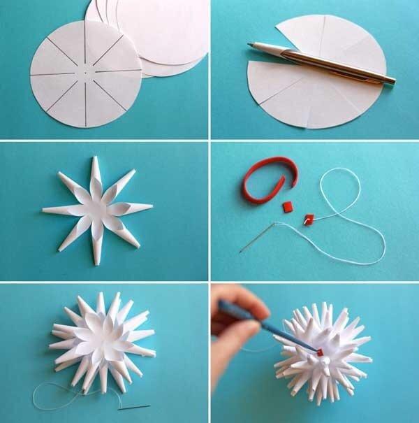 Объемные снежинки своими руками пошаговая инструкция