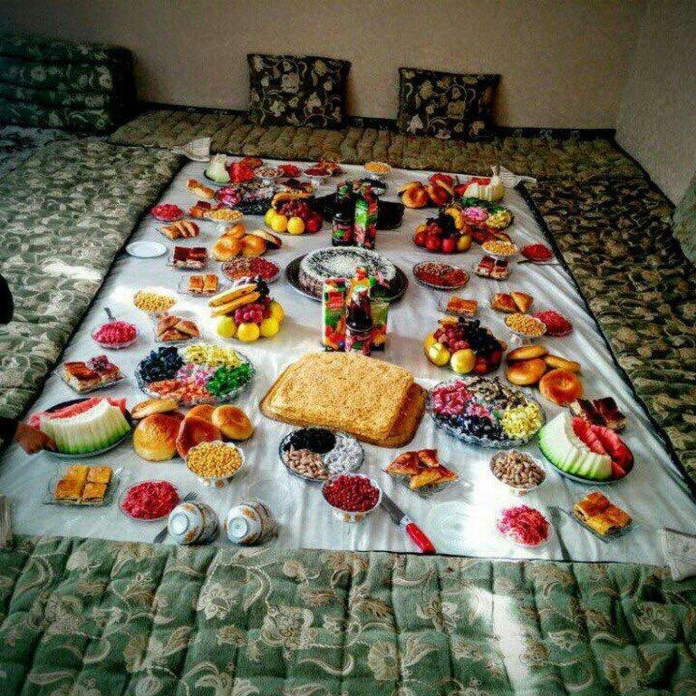 Фото сладостей на столе дастархан турции
