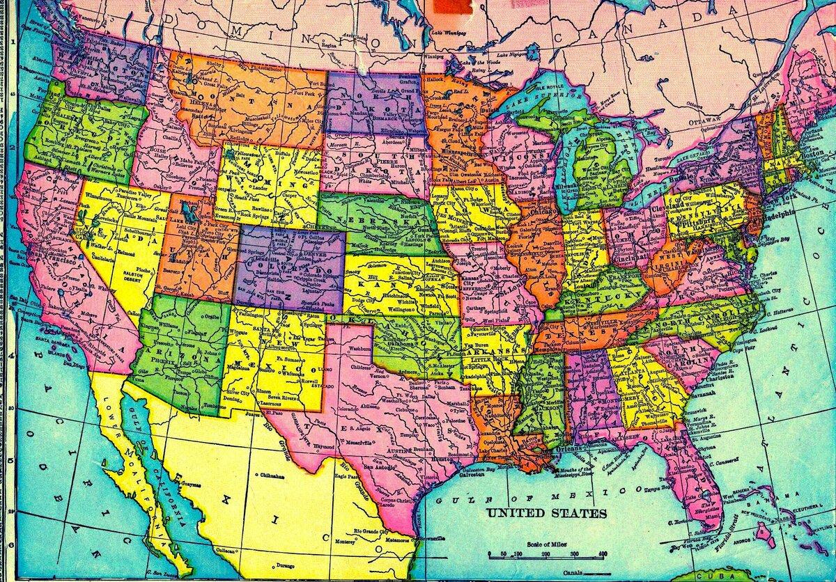 сша карта штатов картинки знаем, что