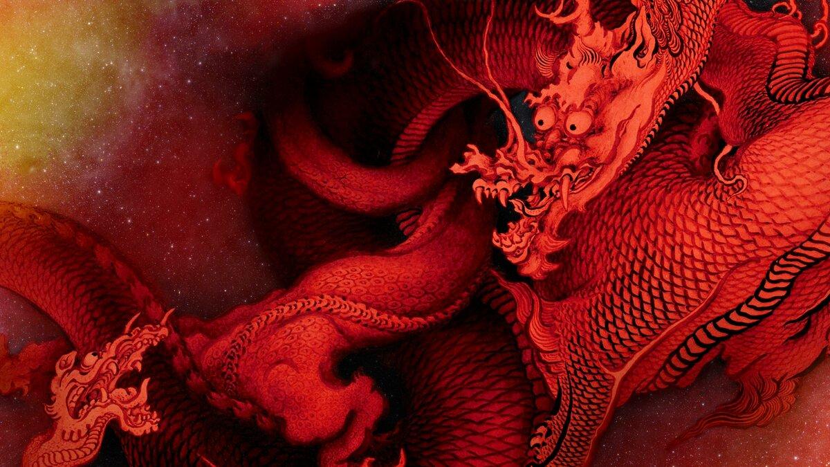 Картинки с красным драконом на рабочий стол