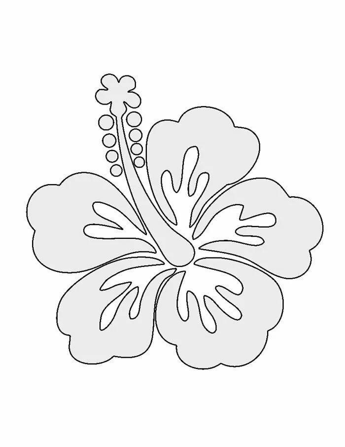 Цветок шаблоны для вырезания