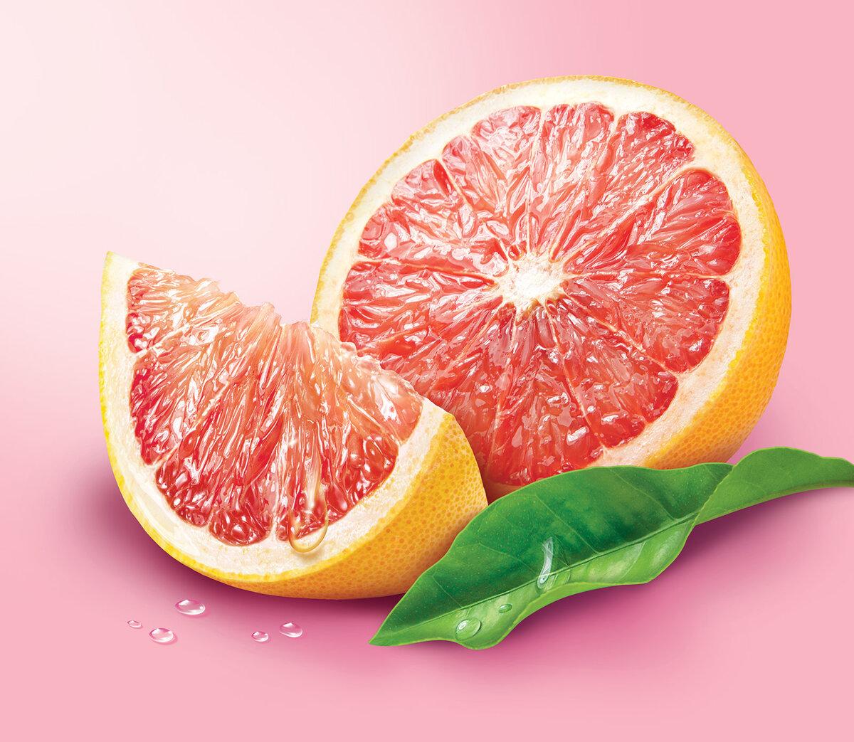 Картинка с грейпфрутом на белом фоне