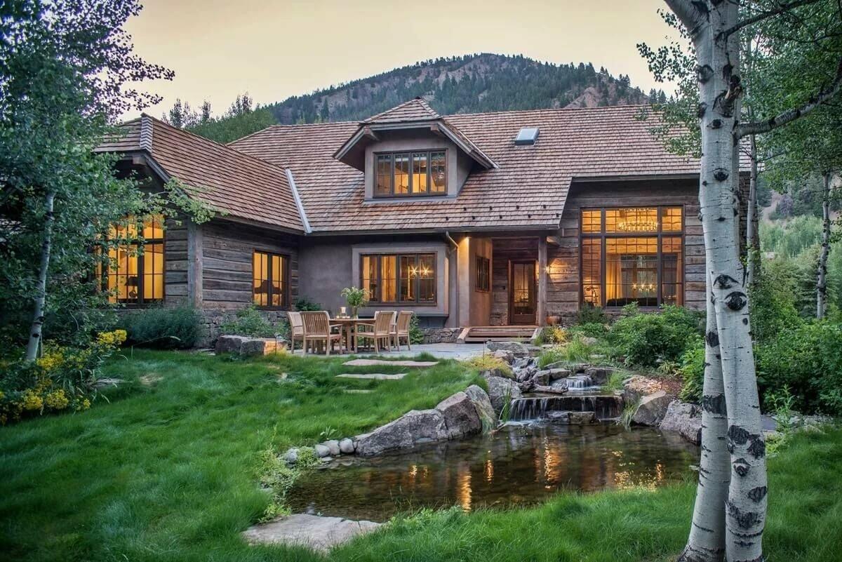 нас деревянный дом в саду фото пригодится