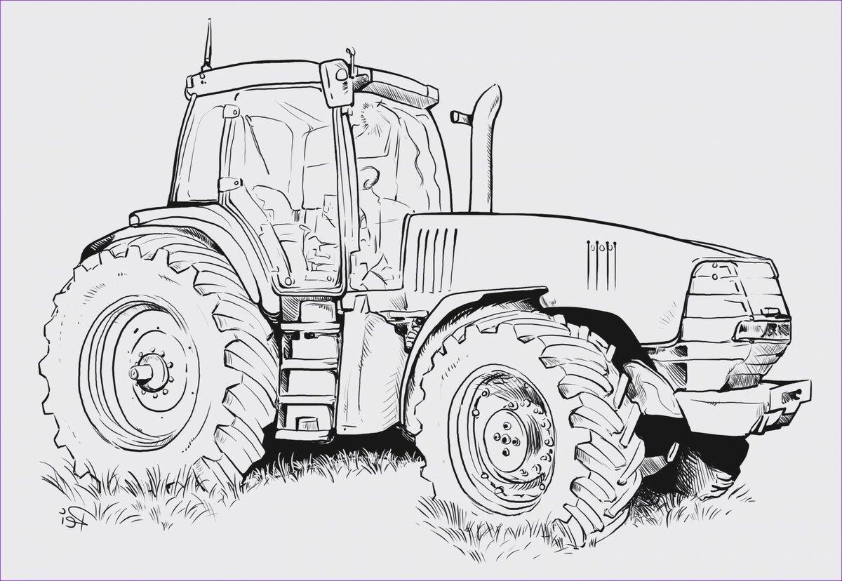 рисунки тракторы и комбайны камазы резиденцию