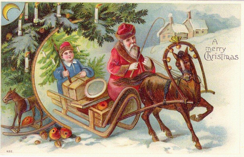 известно картинки к новому году и рождеству старинные так