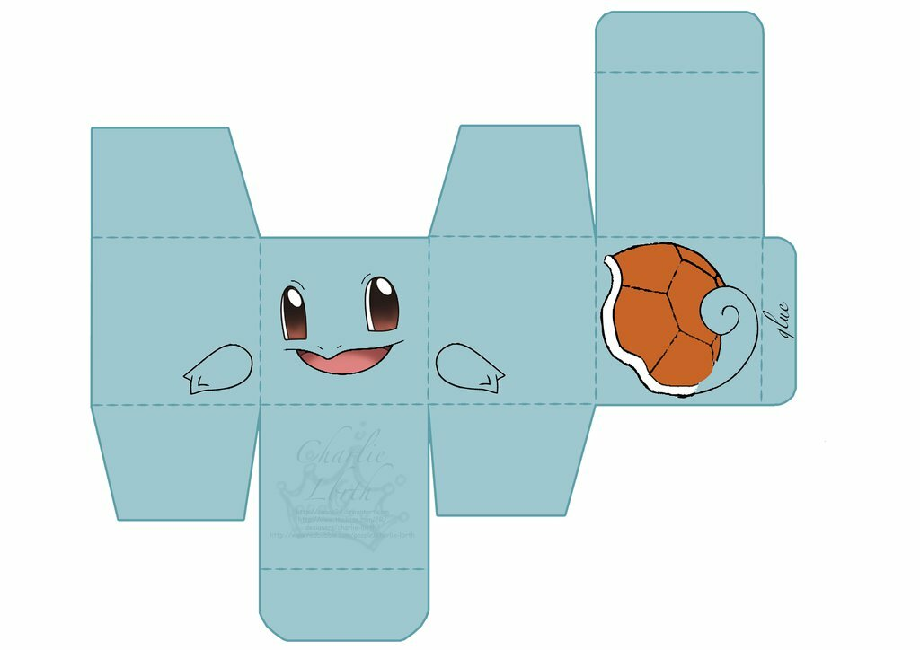 Dratini Pokemon Papercraft Templates Easy Bing Images Card From
