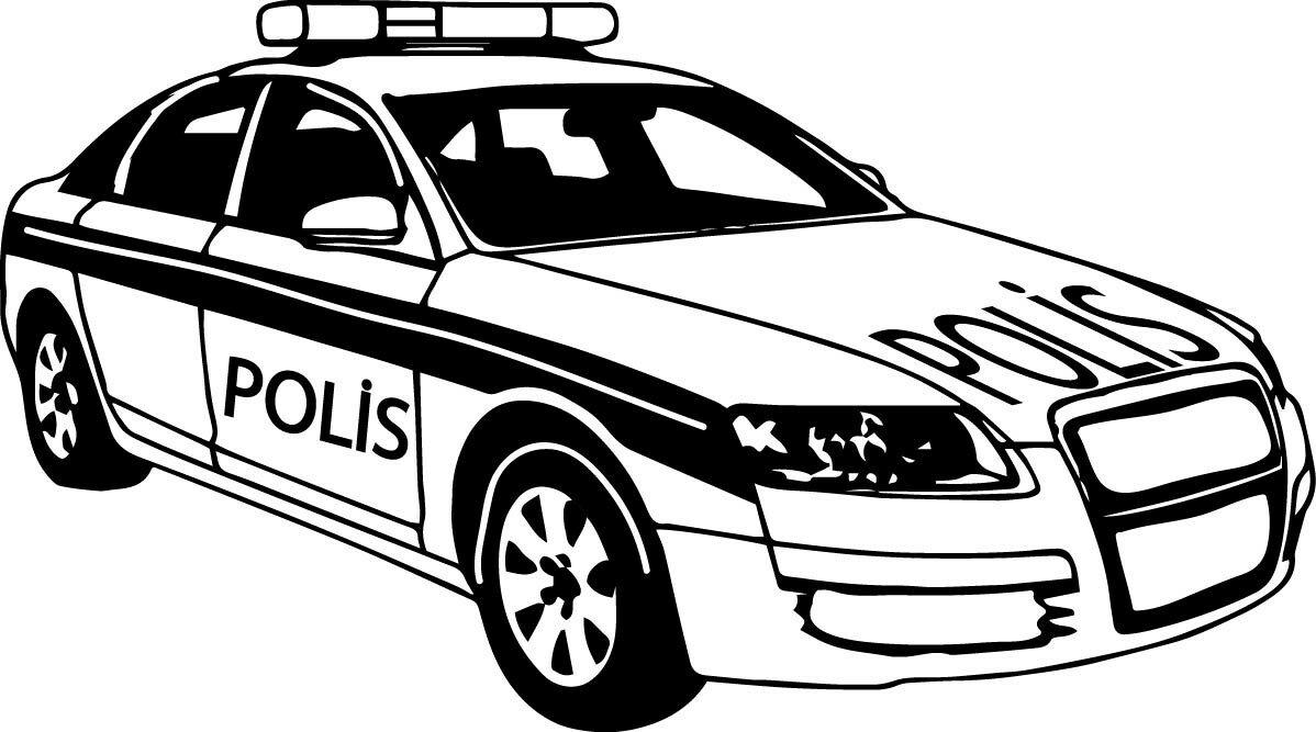 Рисунки полицейских машин карандашом