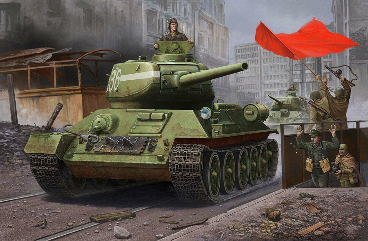 Поздравлением, открытка с танком т-34