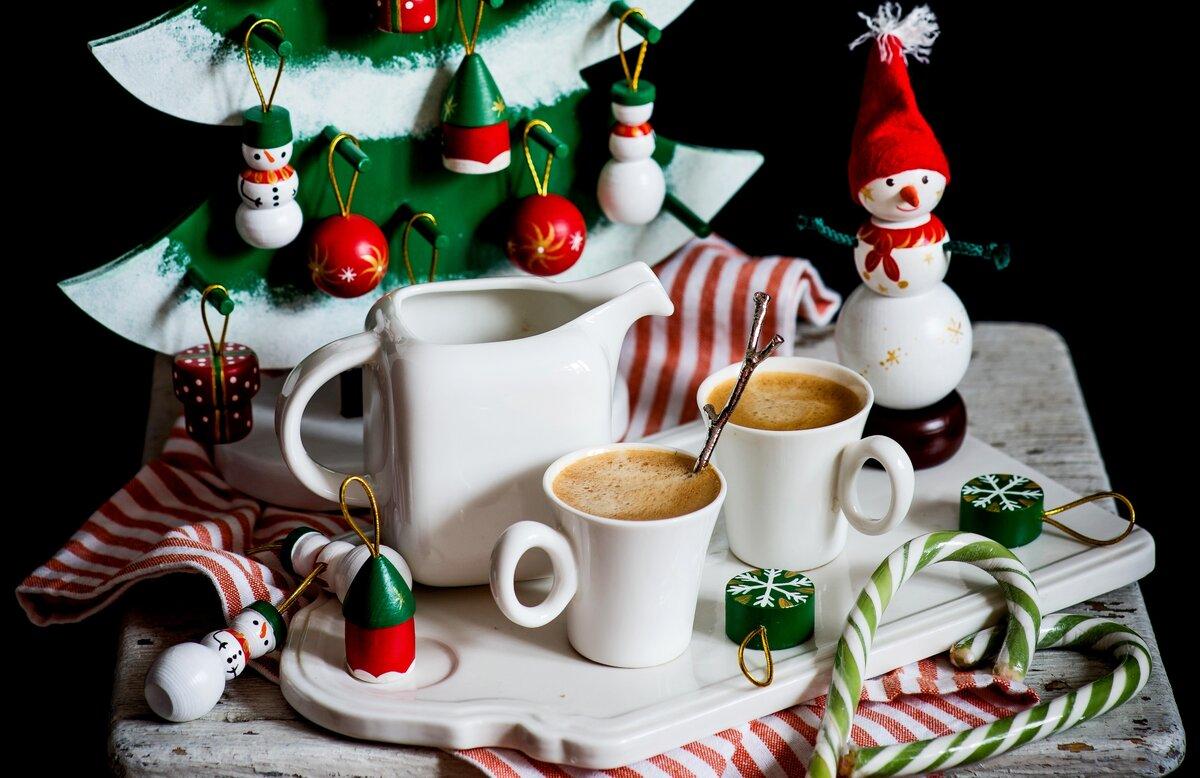 Картинки новогоднее чаепитие