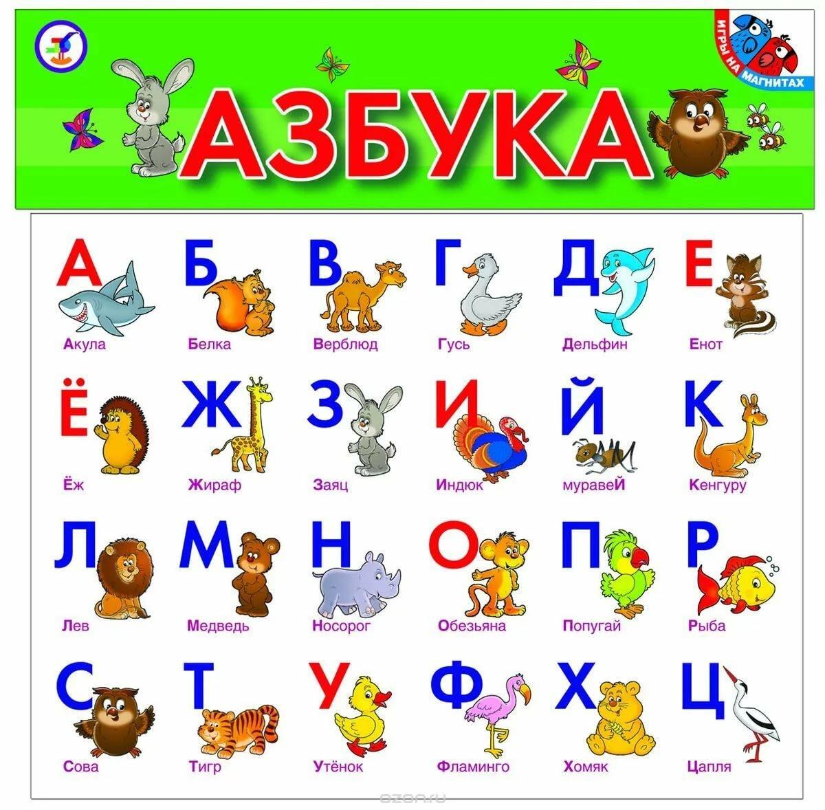 Азбука картинки буквы