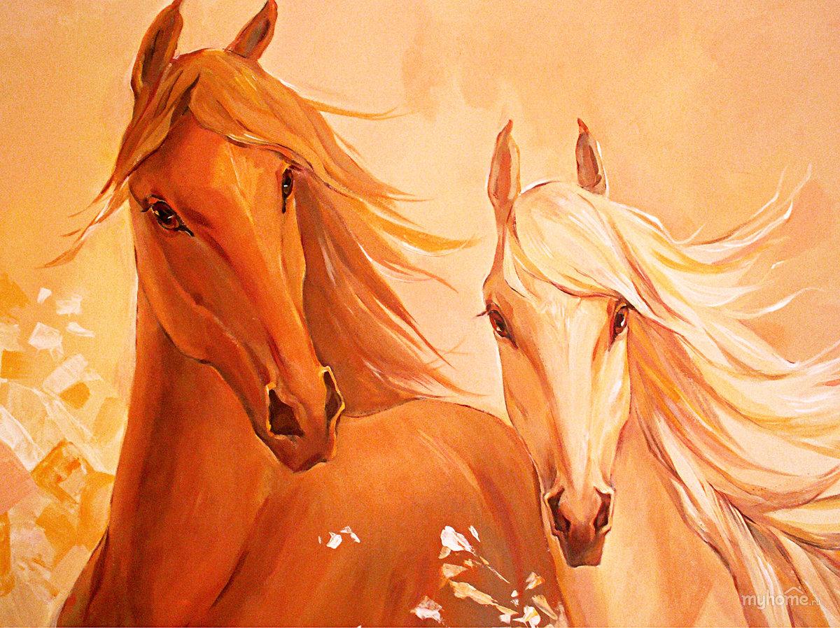 рисунки с лошадьми красивые обои рабочий стол