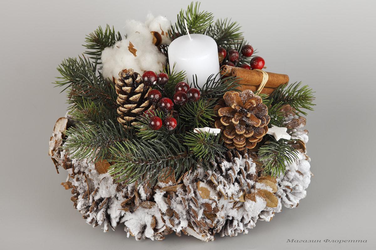 Новогодние букеты флористика, букет