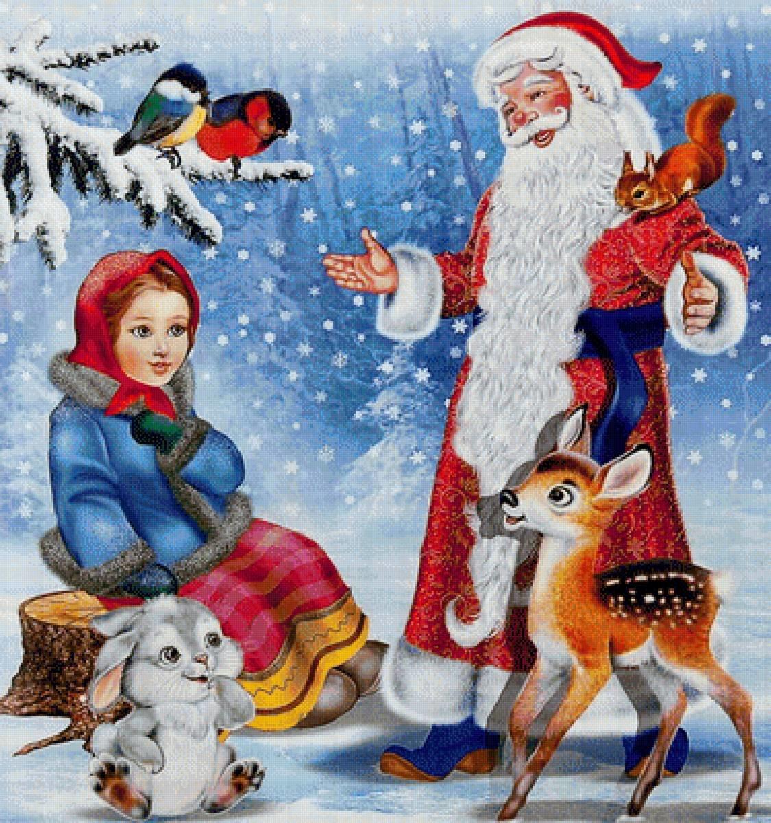 Картинки к зимним сказкам для детей, овен