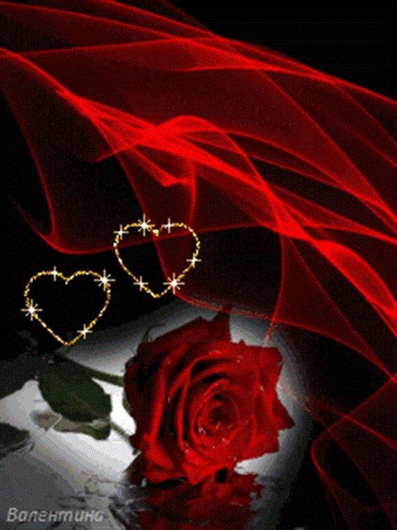 Гифы сердце и розы