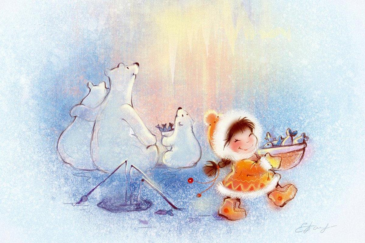 Открытка для детей акварелью, рождения