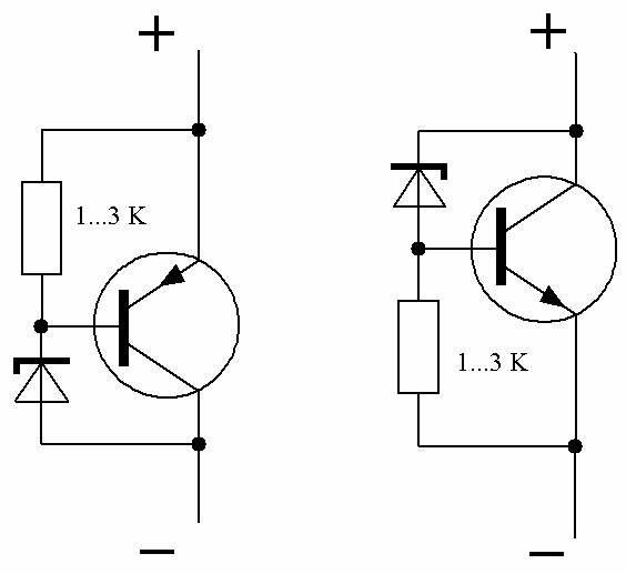 озера использовать транзистор вместо фотодиода снижении
