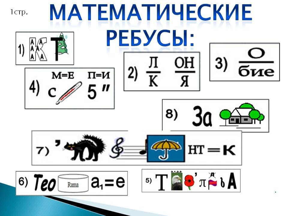 Картинка ребуса по математике