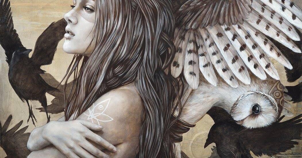мистические картинки птица и человек гараж для