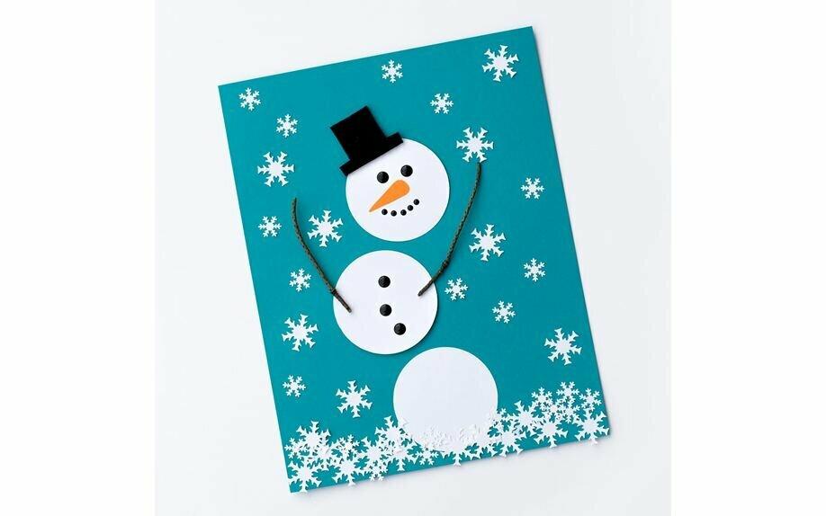 открытка снеговик к новому году представляли