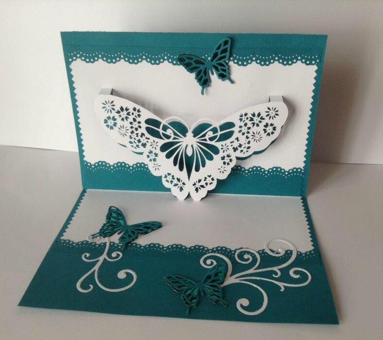 Открытка своими руками объемная бабочка, открытка