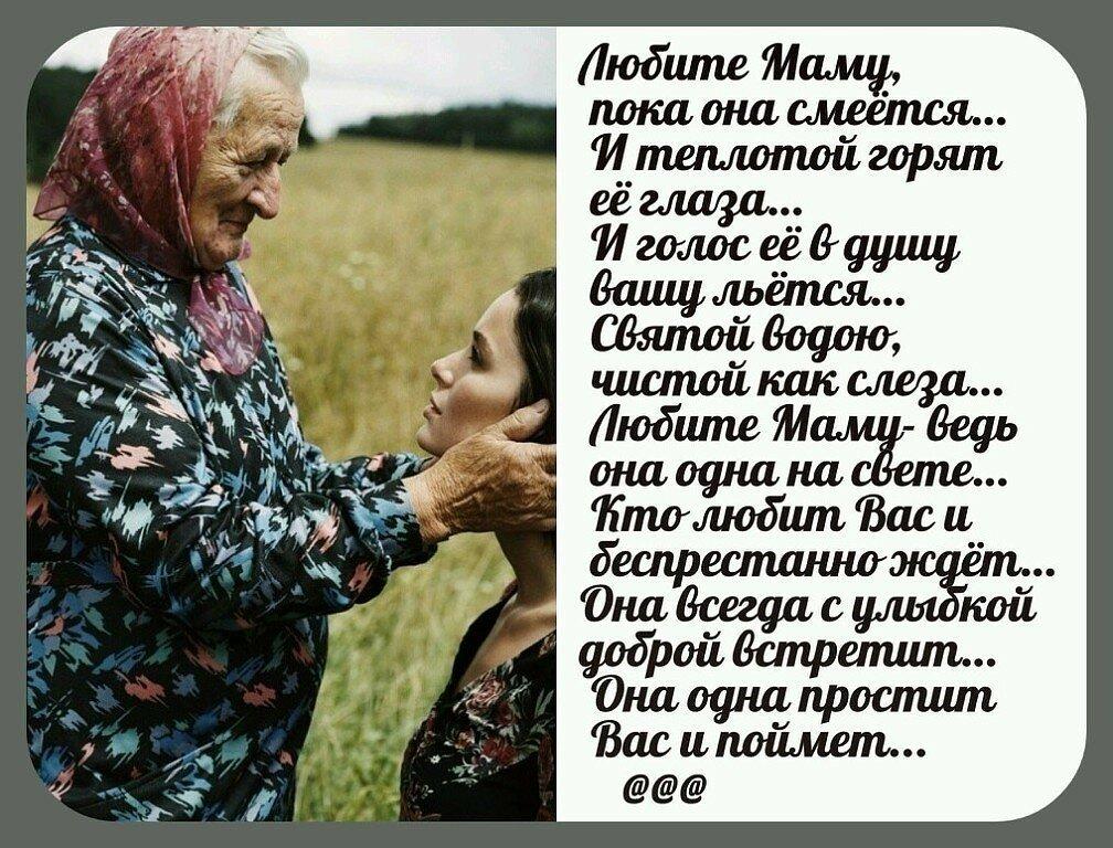 стихи пожилой матери должен