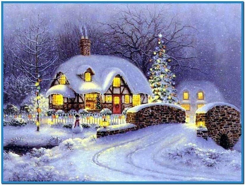 Открытки с рождеством с домиками, мая мастер-класс открытки