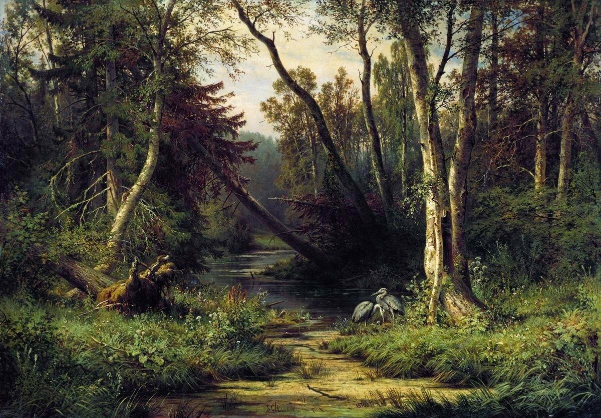 Картинки шишкин лес