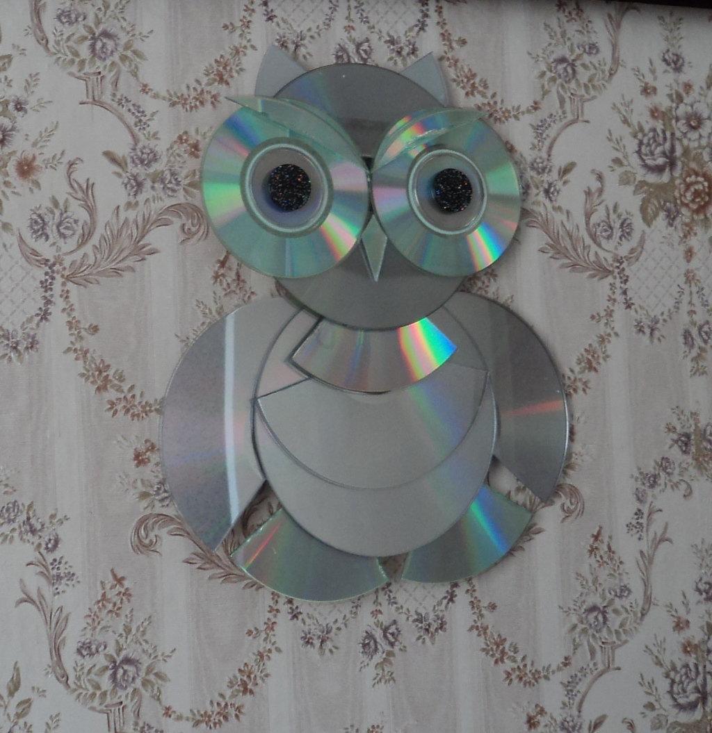 Поделки из дисков фото