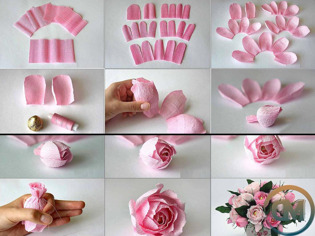 мечты актёрской розы из бумаги своими руками пошаговое фото шарики, сердечки