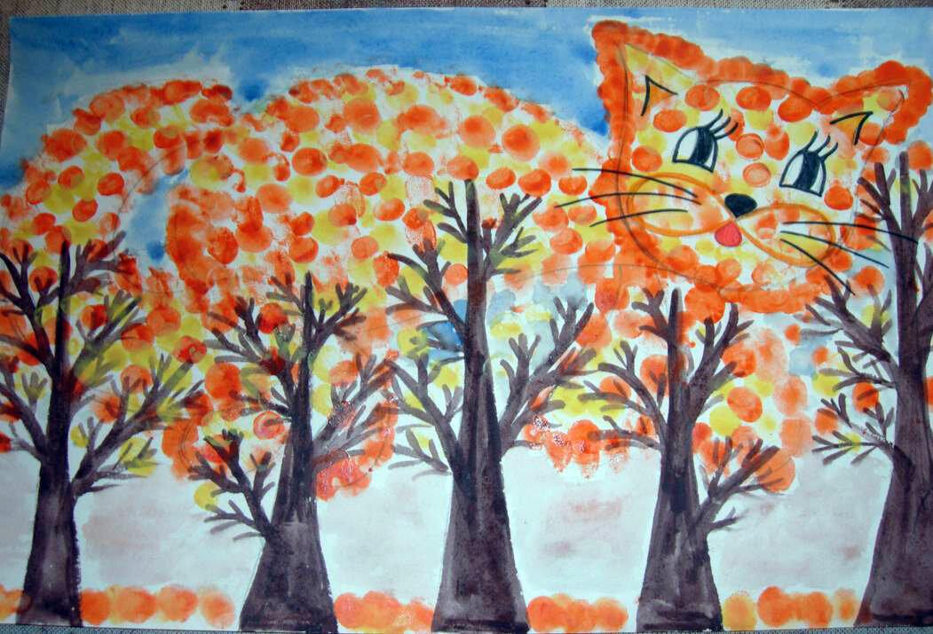 Рисунок на осеннюю тематику в школу
