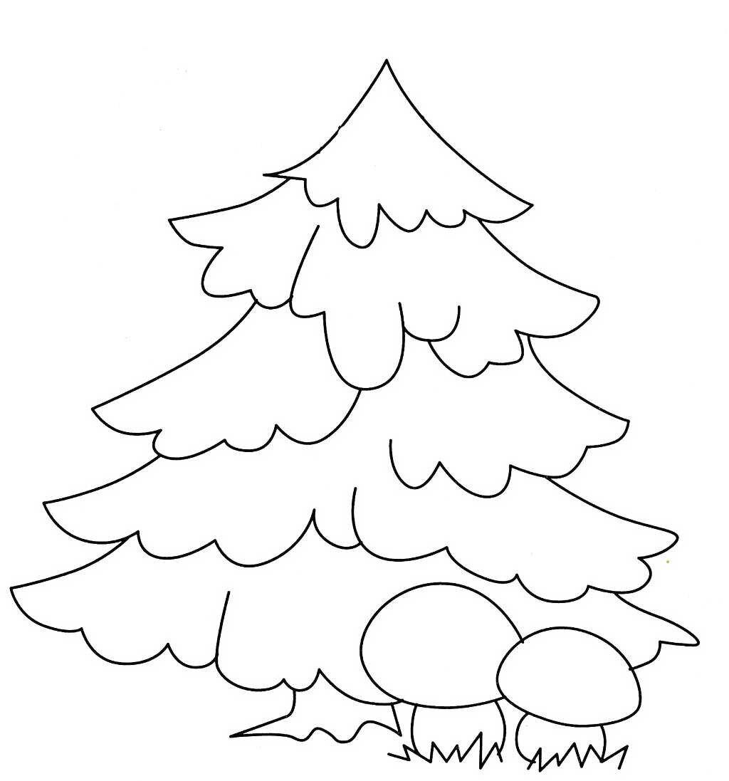 Раскраска елки распечатать