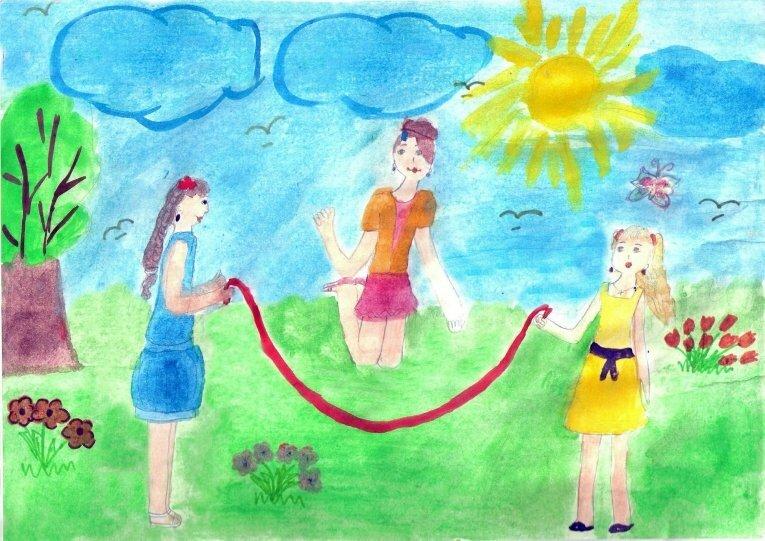 Детские картинки как я провел лето
