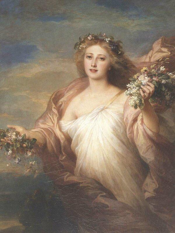 богини в картинах художников вязать