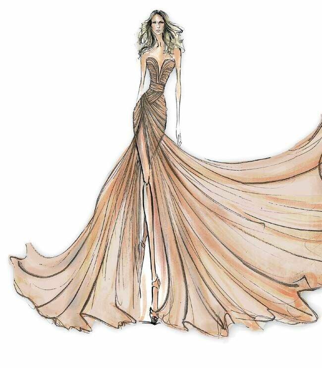 Рисунки вечерние платья
